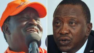 Raila Odinga naUhuruu Kenyatta
