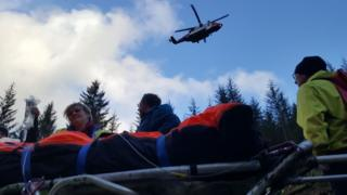 Rescue in Glen Loy Forest