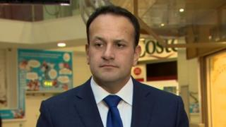 Leo Varadkar in the Ráth Mór centre in Londonderry