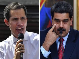 Juan Guaido dan Nicolas Maduro