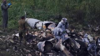 جنگنده اسرائیلی که در شمال اسرائیل سقوط کرد