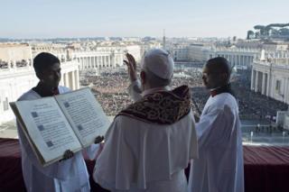 Папа Франциск с посланием Urbi et Orbi