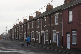 Terrace housing in northern England