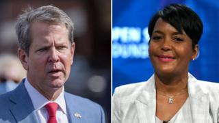 positive people Governor Brian Kemp and Atlanta Mayor Keisha Lance Bottoms