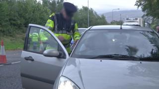 Gardai checkpoint