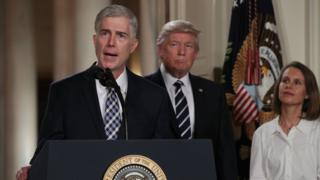 Neil Gorsuch speaking after his nomination for the Supreme Court