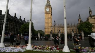 Parliament Square tributes