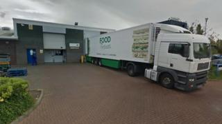Food Partners lorry in Middlesbrough