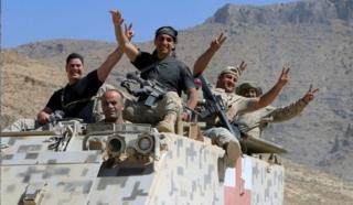 نیروهای ارتش لبنان در جنگ با داعش