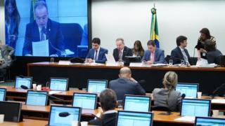 Sessão para leitura do parecer do relator da proposta na Comissão Especial Samuel Moreira (PSDB-SP)