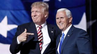 Donald Trumpo y Mike Pence