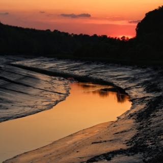 Sunset over the River Avon