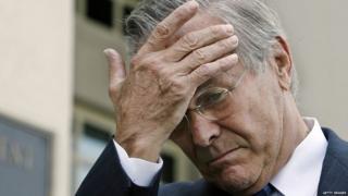 Former US Defense Secretary Donald Rumsfeld in 2006
