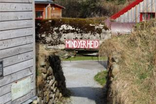 """Mind yer heid"" sign at Knockando Mill."