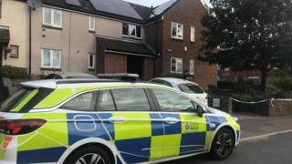 Police car in Forest Road, Colchester