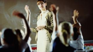 A teacher with her class