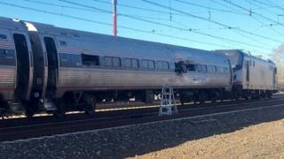 Site of Amtrak accident south of Philadelphia, 3 April