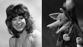 Sally James from Tiswas and Basil Brush