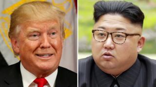 A combination photo shows U.S. President Donald Trump and North Korean leader Kim Jong-un