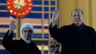 Ердоган з дружиною в Стамбулі