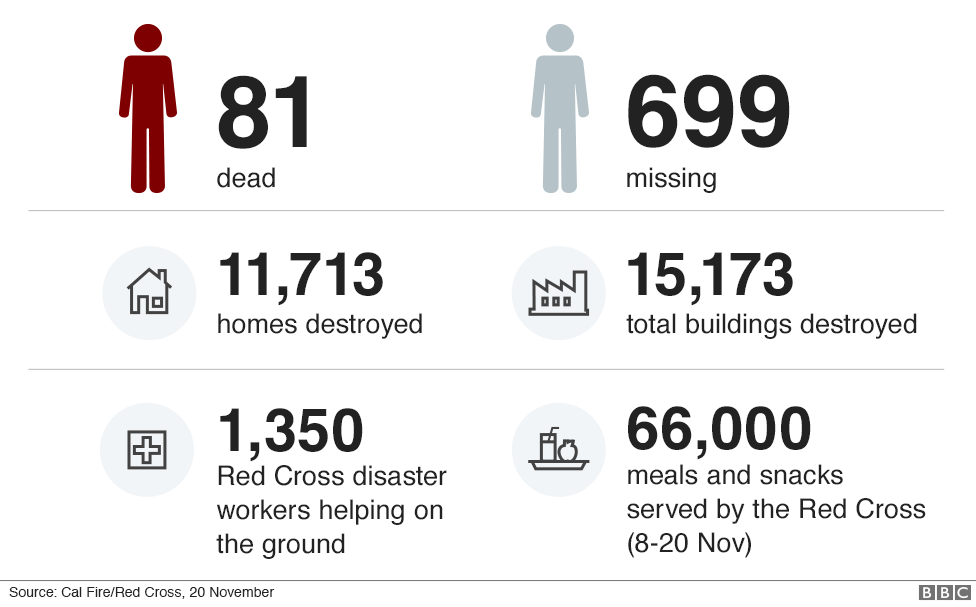 Infographic showing number of casualties, missing people, homes destroyed and the help provided