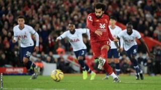 Mohamed Salah a transformé un pénalty à la 75ème minute.
