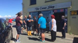 Traders gathering in New Quay