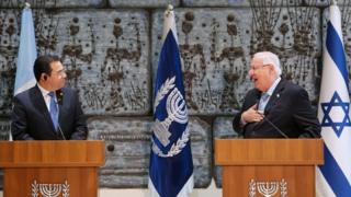 إسرائيل تشكر غواتيمالا على نقل سفارتها للقدس