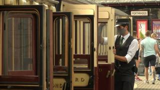 Carriages on the Ffestiniog railway