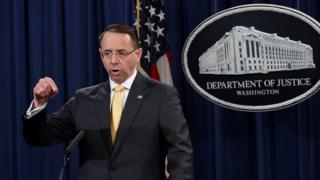 Заместитель генерального прокурора США Род Розенштайн