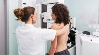 woman going for a mammogram