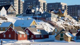 Houses in Nuuk, the capital of Greenland