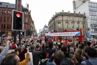 Crowds in Leeds