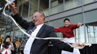 美國其中一所孔子學院開幕。
