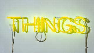 Yellow neon sign art installation by Martin Creed