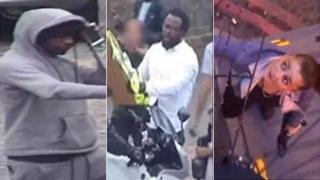 CCTV images of three suspects