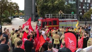 Suffolk FBU protest