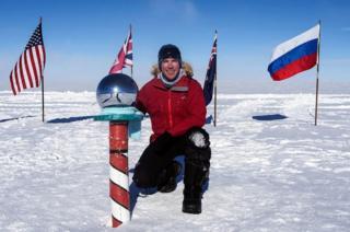 Zac Poulton at the South Pole