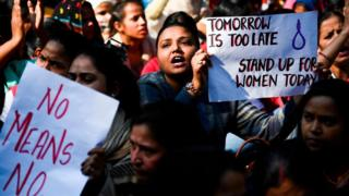 Representational image: protest against sexual violence against women in India.