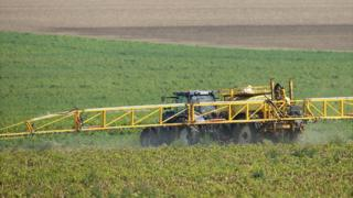Crop-spraying operation in Germany, file pic