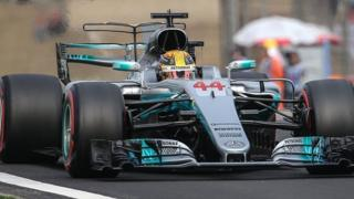 Lewis Hamilton during qualifying for the China Grand Prix