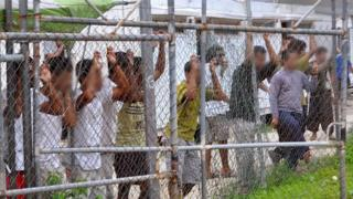 Library photo of asylum-seekers at the Manus Island detention centre in Papua New Guinea