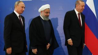 رؤساء تركيا وإيران ورسيا