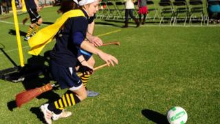Quidditch being played in New York in 2010