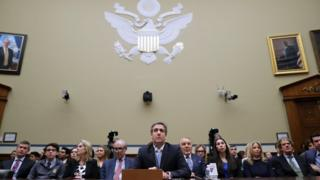 Michael Cohen, the former attorney for President Donald Trump arrives to testify before the House Oversight Committee
