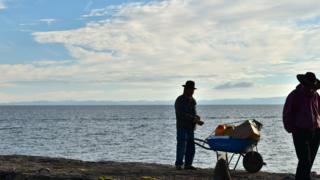 Foto tomada en la Isla Amantaní, en Puno.