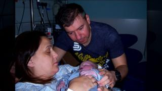 June and Fraser Morton with baby Lucas