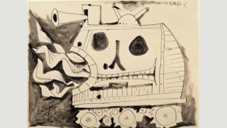 毕加索的作品《战争》