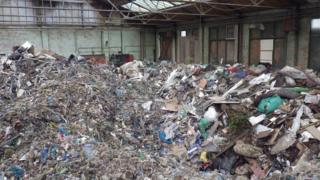 Waste dumped at Sunderland site