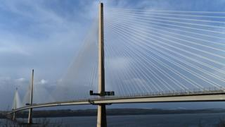 The Queensferry Crossing road bridge has more than 70km of cables